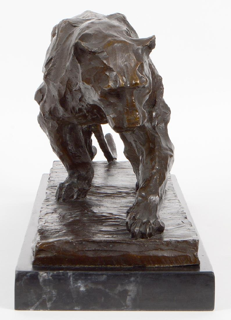 PATINATED BRONZE LIONESS - 2