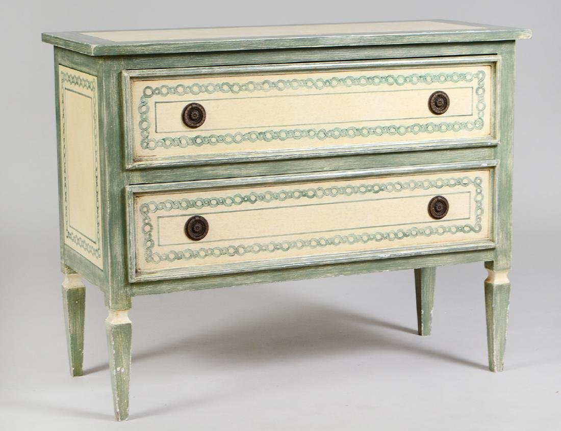 NEOCLASSICAL STYLE PAINTED CHEST OF DRAWERS