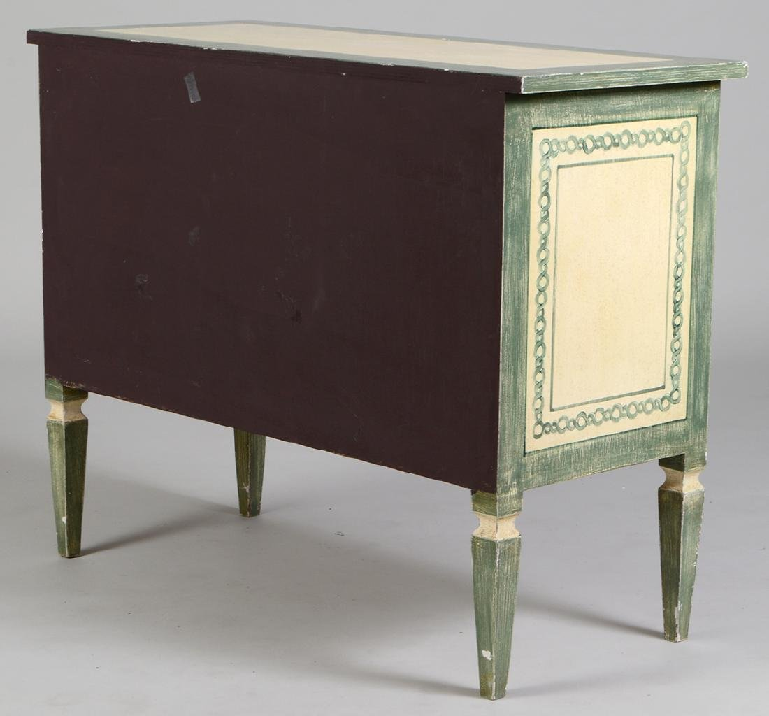 NEOCLASSICAL STYLE PAINTED CHEST OF DRAWERS - 4