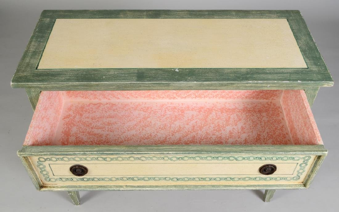 NEOCLASSICAL STYLE PAINTED CHEST OF DRAWERS - 5