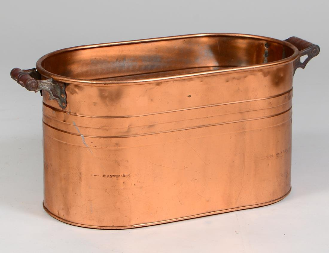 CONTINENTAL OVAL COPPER LOG BIN