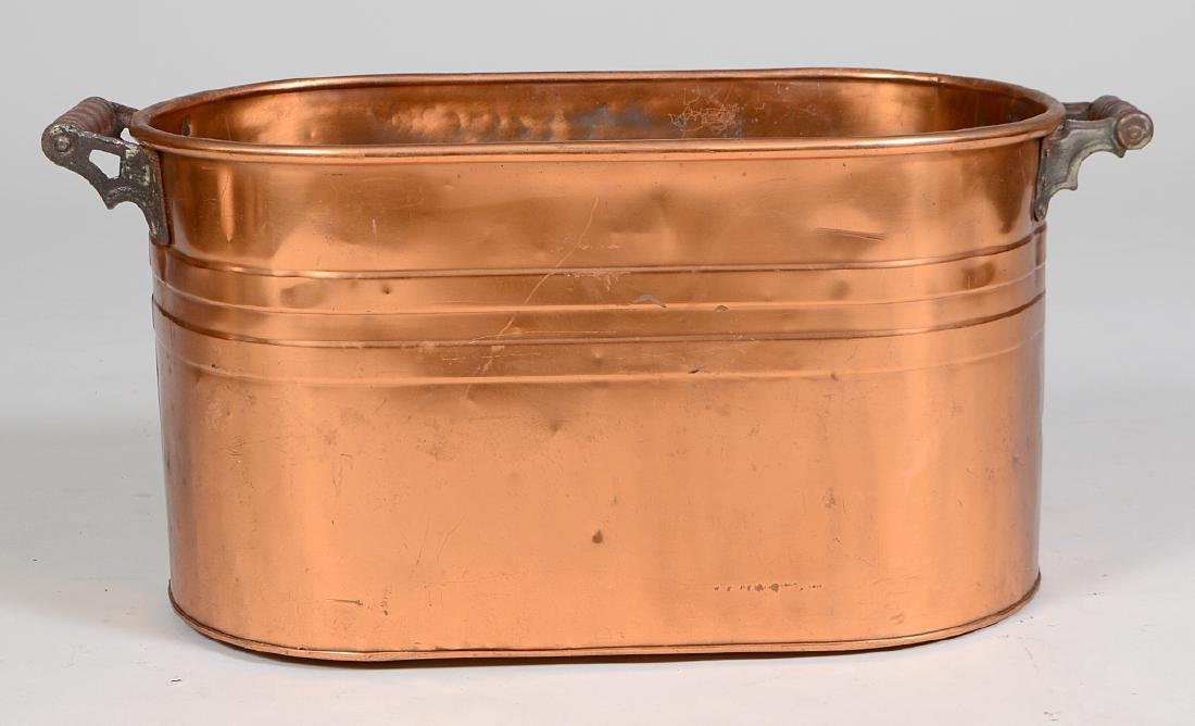 CONTINENTAL OVAL COPPER LOG BIN - 2