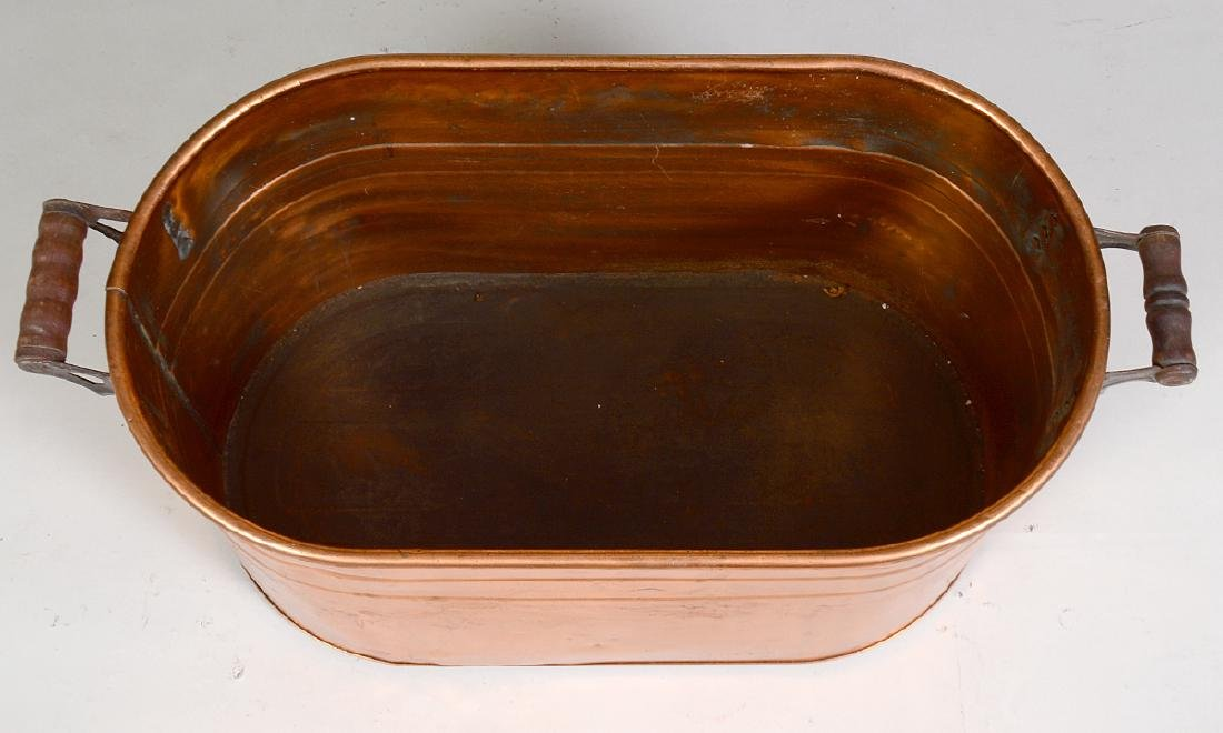 CONTINENTAL OVAL COPPER LOG BIN - 3