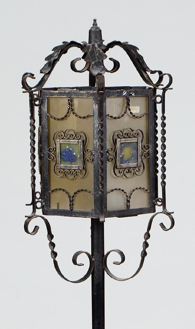 SPANISH BAROQUE STYLE WROUGHT IRON FLOOR LAMP - 2