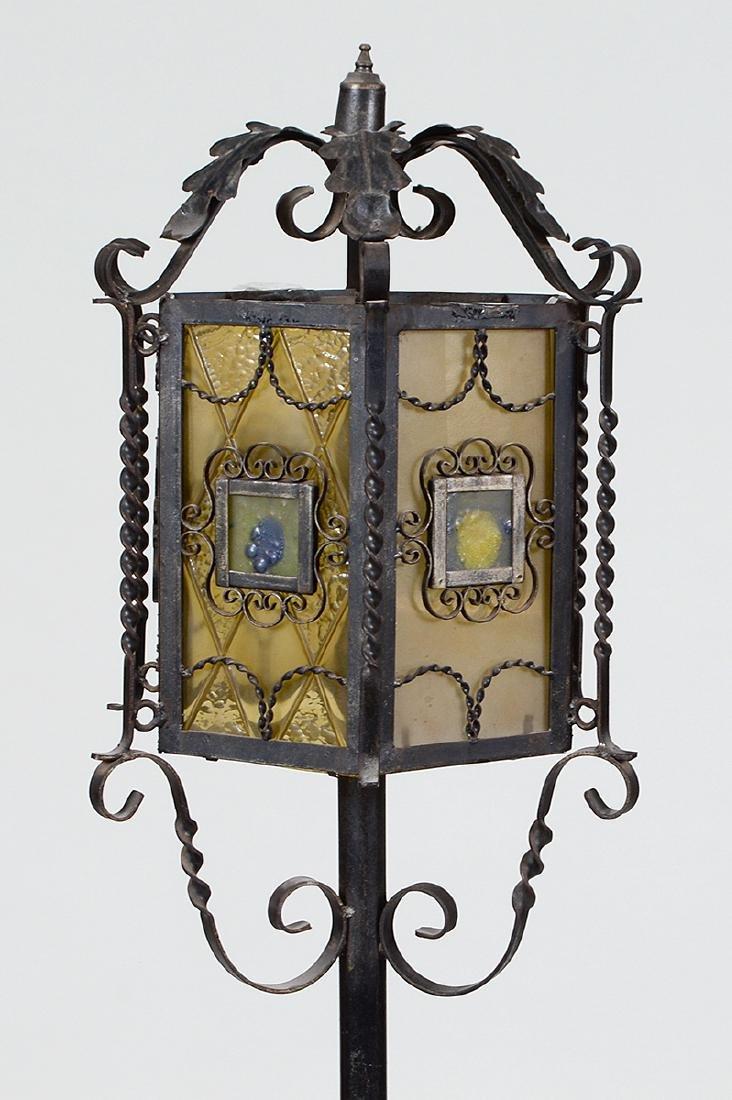 SPANISH BAROQUE STYLE WROUGHT IRON FLOOR LAMP - 4