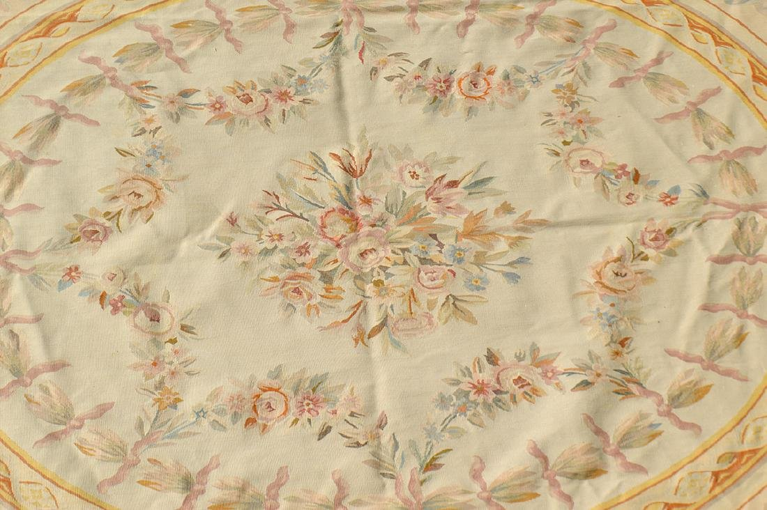 FRENCH AUBUSSON FOLIATE DECORATED CARPET - 2