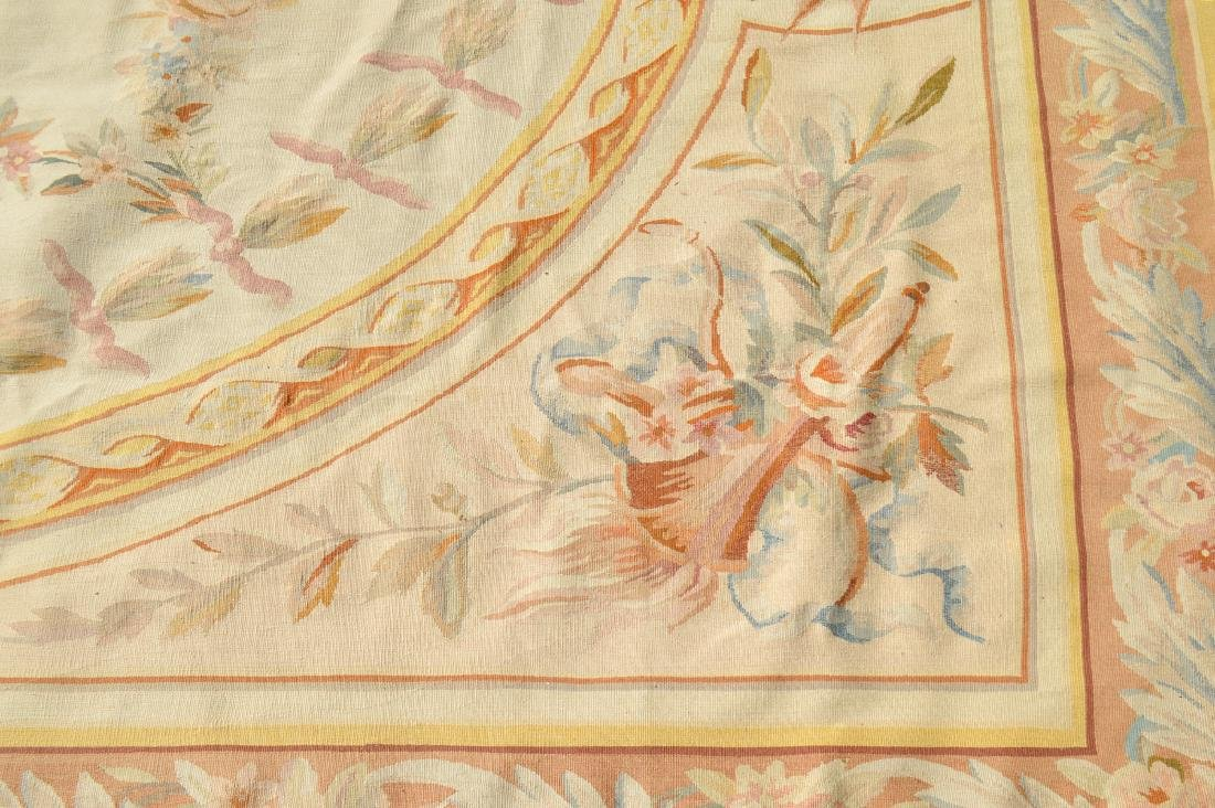 FRENCH AUBUSSON FOLIATE DECORATED CARPET - 4