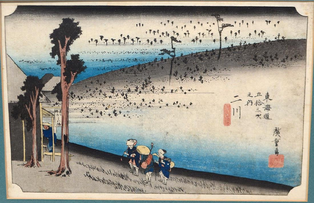 TWO HIROSHIGE WOOD BLOCK PRINTS - 3
