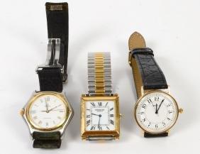 Group Of Three Gentleman Watches