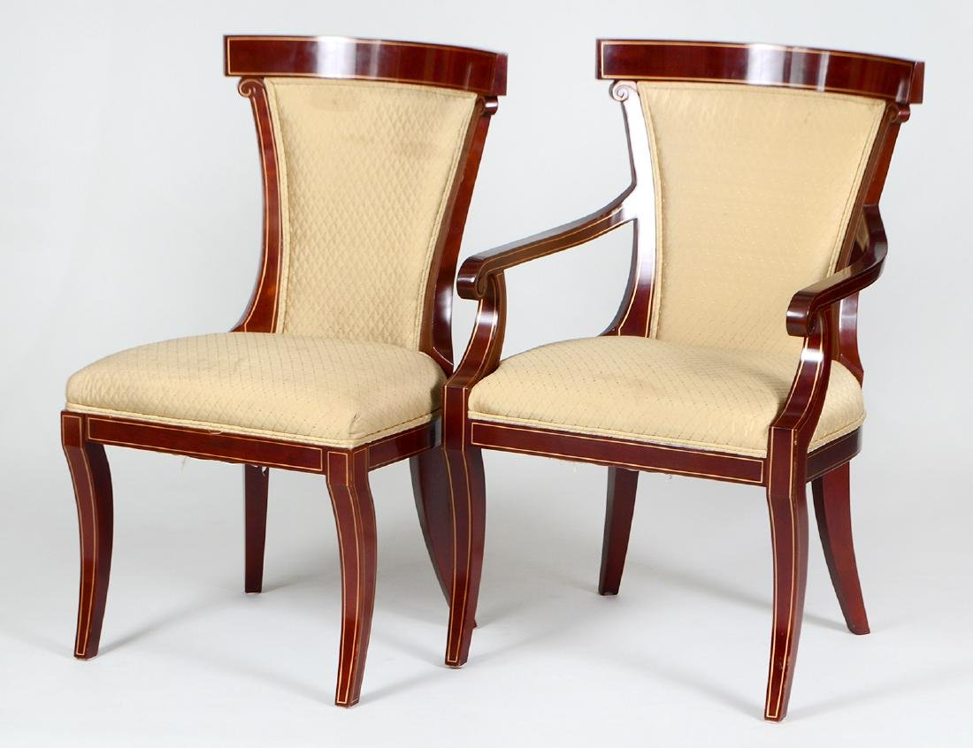 SET OF EIGHT NEO-CLASSICAL STYLE MAHOGANY CHAIRS