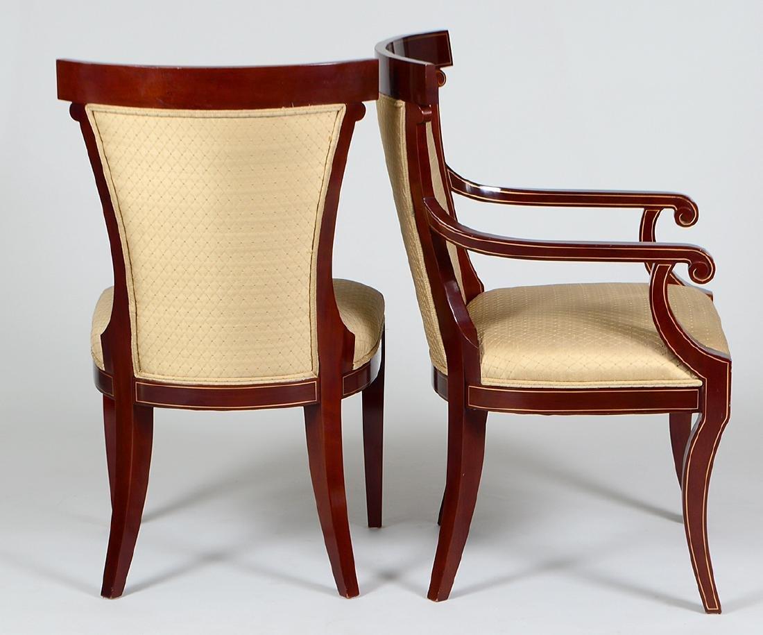 SET OF EIGHT NEO-CLASSICAL STYLE MAHOGANY CHAIRS - 2