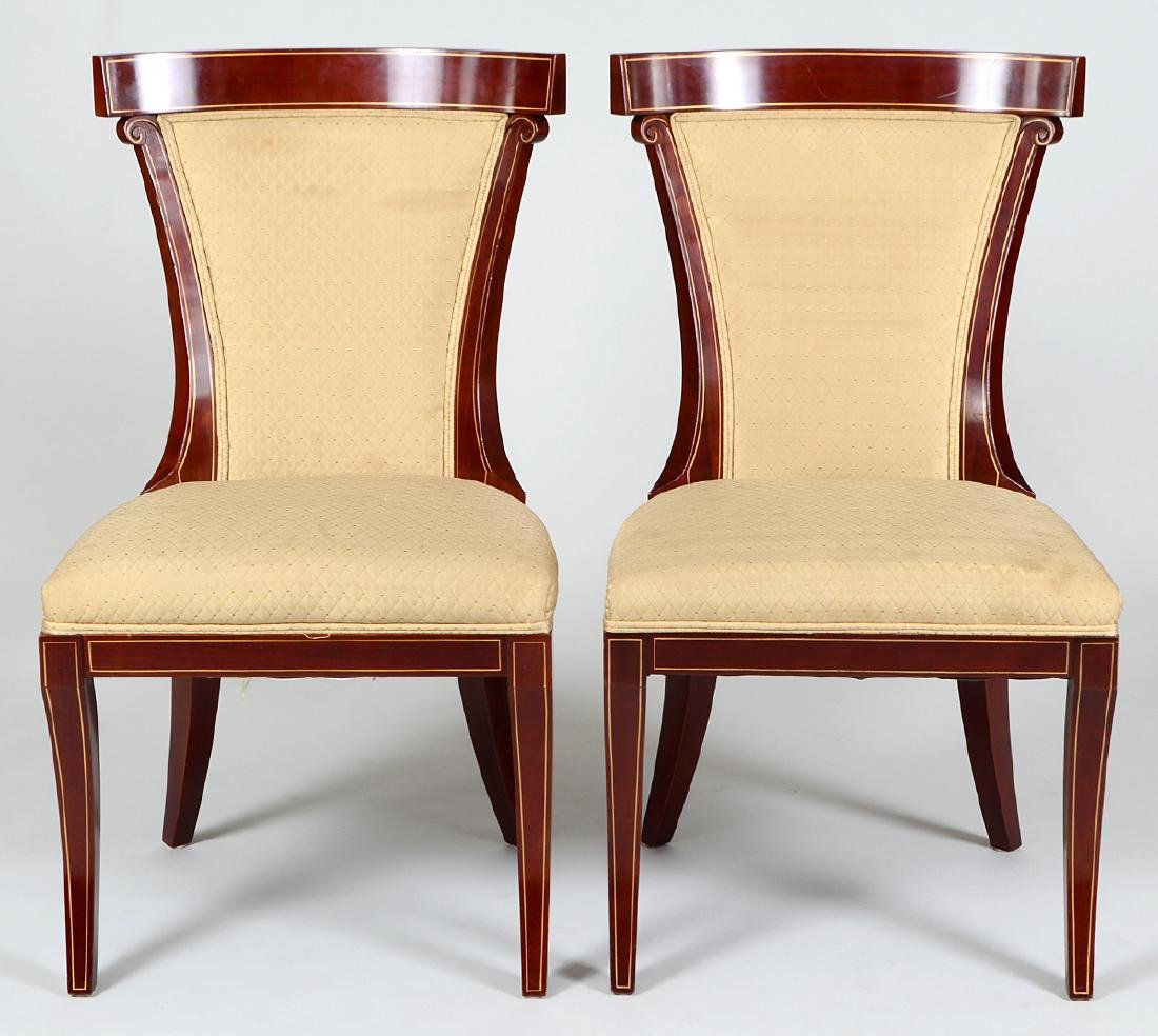 SET OF EIGHT NEO-CLASSICAL STYLE MAHOGANY CHAIRS - 3