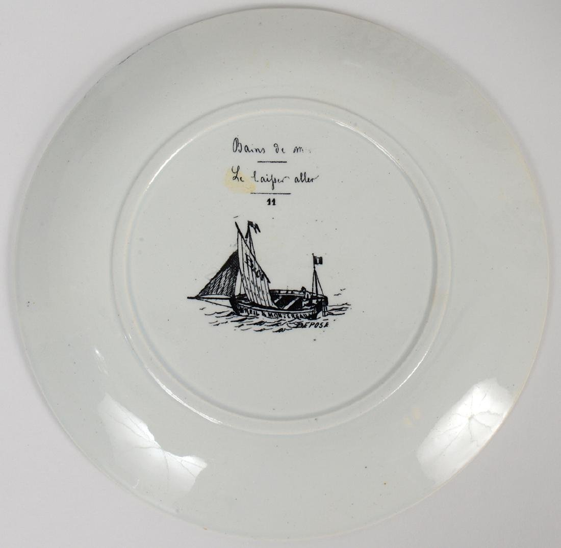 SET OF ELEVEN FRENCH TRANSFER PRINTED EARTHENWARE - 3
