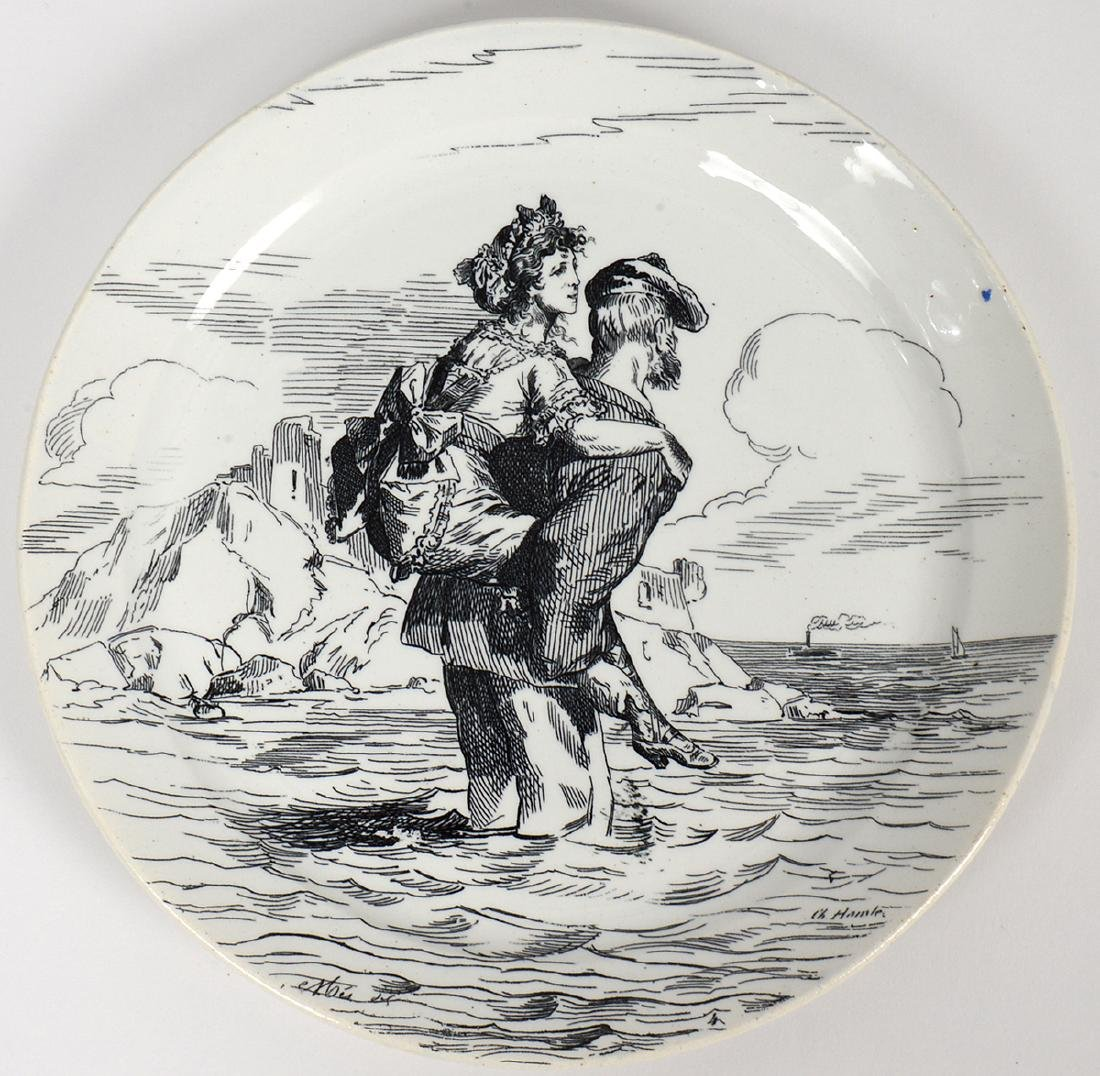 SET OF ELEVEN FRENCH TRANSFER PRINTED EARTHENWARE - 4