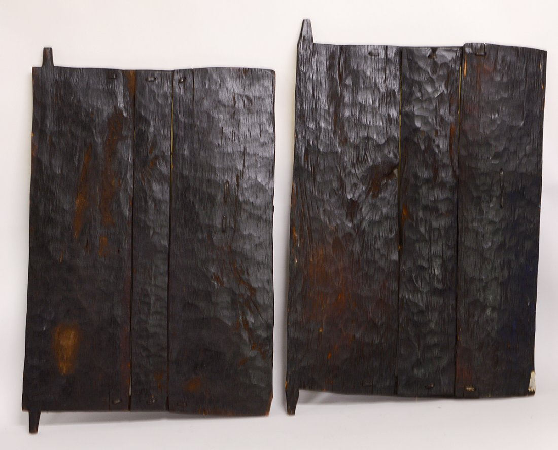 TWO WEST AFRICAN DOGON GRAINARY DOORS - 4