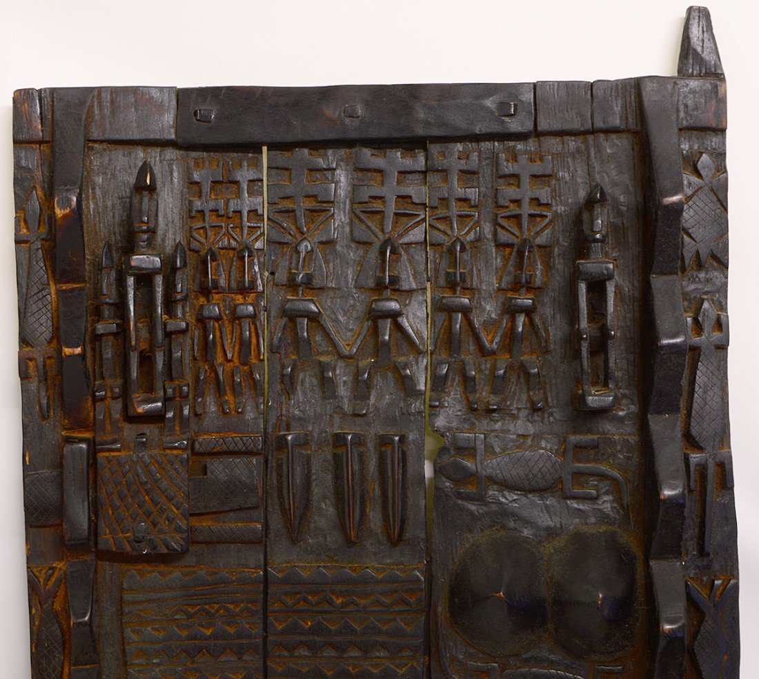 TWO WEST AFRICAN DOGON GRAINARY DOORS - 5
