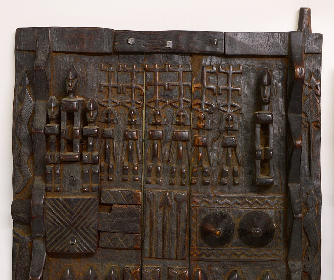 TWO WEST AFRICAN DOGON GRAINARY DOORS - 6