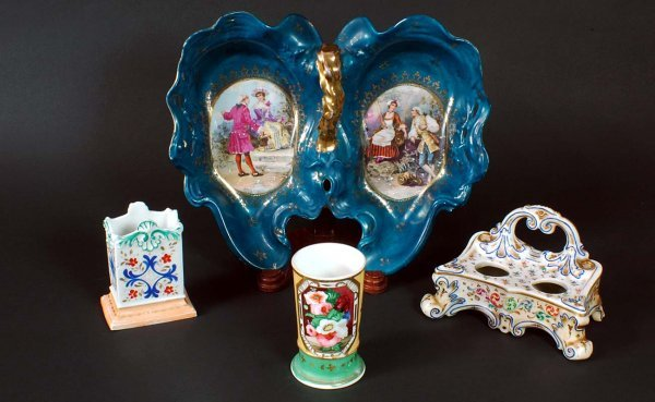 12:  Four Porcelain and Pottery Pieces