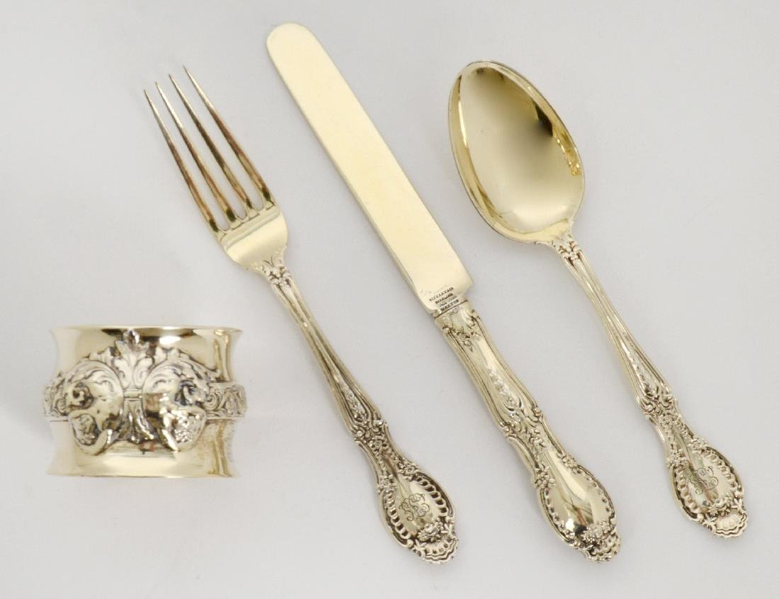 TIFFANY STERLING SPOON, KNIFE, FORK & NAPKIN RING