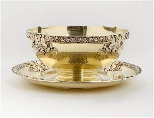 TIFFANY & CO. STERLING SILVER BOWL AND UNDERPLATE