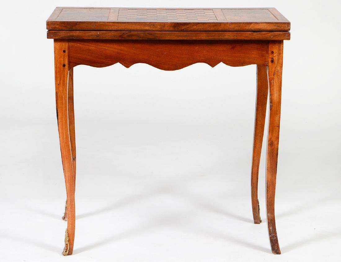 CONTINENTAL ROCOCO WALNUT GAMES TABLE