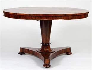 WILLIAM IV ROSEWOOD CIRCULAR BREAKFAST TABLE