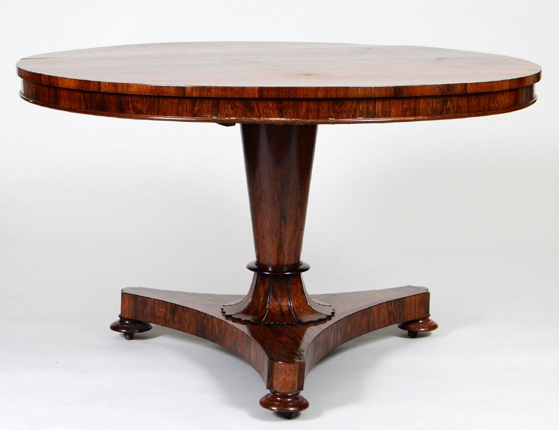 WILLIAM IV ROSEWOOD CIRCULAR BREAKFAST TABLE