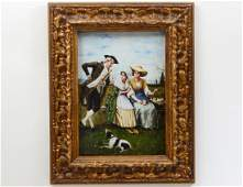 LARGE GERMAN KPM PAINTED PORCELAIN PLAQUE