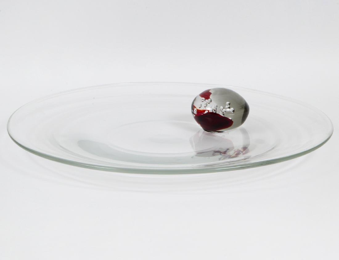 LARGE LIVIO SEGUSO COLORLESS GLASS CENTERPIECE