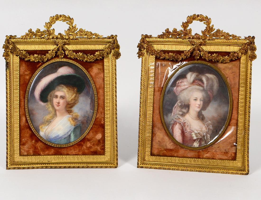 PAIR OF LOUIS XVI STYLE GILT BRONZE TABLE FRAMES