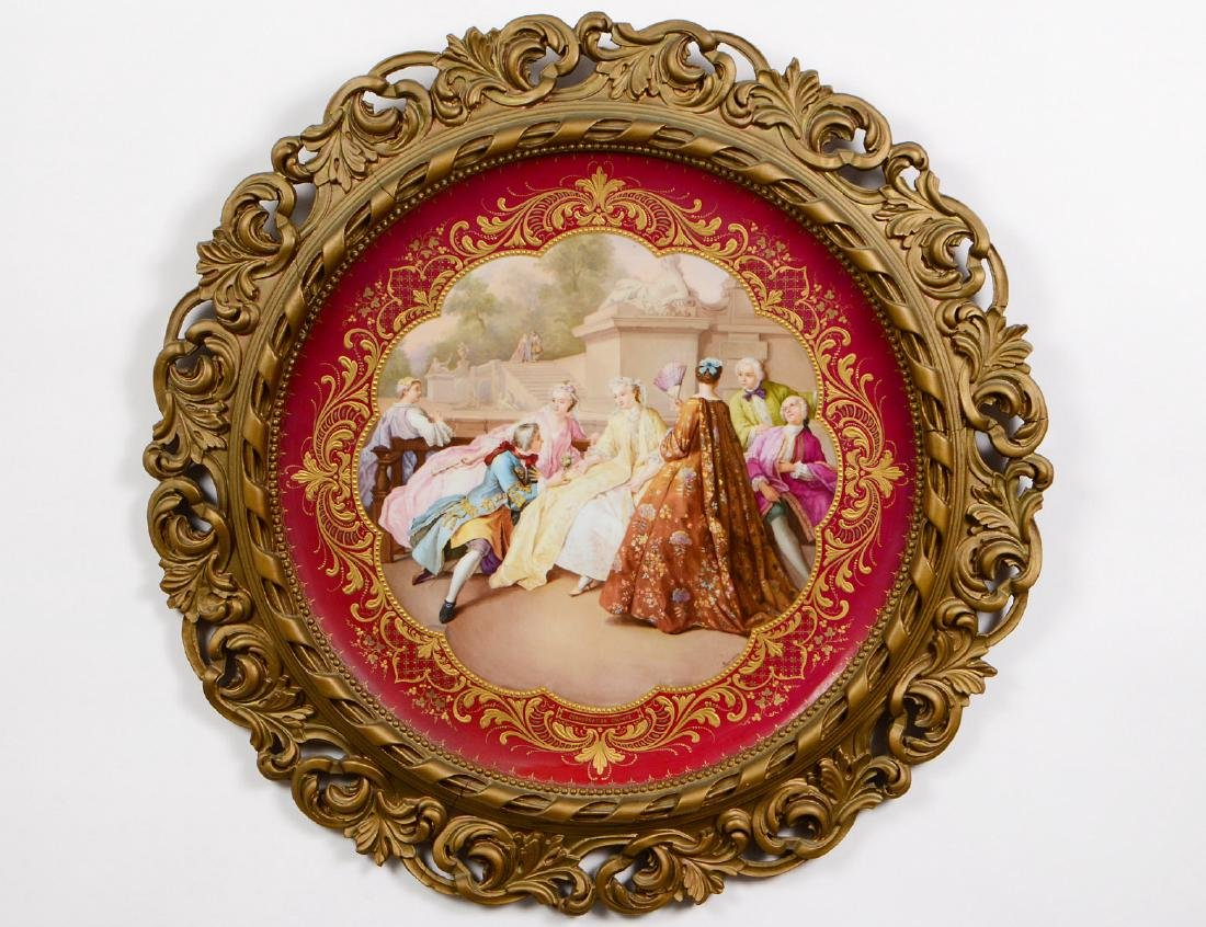 ROYAL VIENNA PAINTED PORCELAIN CHARGER