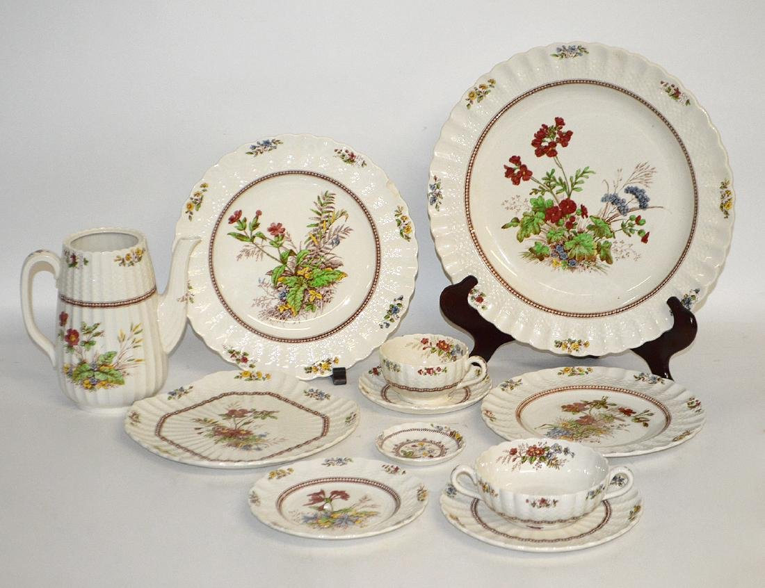 COPELAND SPODE EARTHENWARE PART DINNER SERVICE