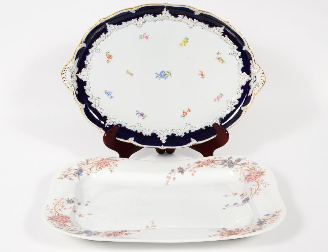 MIESSEN FOLIATE DECORATED PORCELAIN PLATTER
