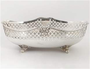 TIFFANY SILVER PLATE FOOTED CENTERPIECE