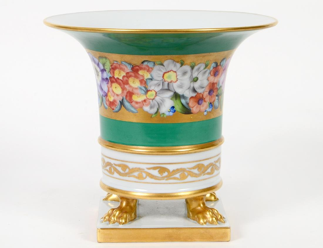 HEREND PARCEL GILT FLORAL DERCORATED VASE