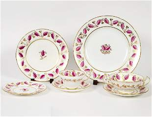 ENGLISH EIGHTY-FIVE PIECE PORCELAIN DINNER SERVICE