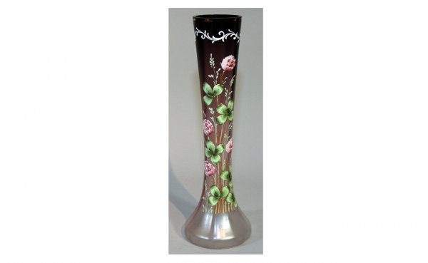 6: French Art Glass Amethyst Vase.
