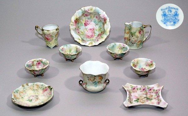 9: Ten Pieces of Victorian, Royal Bayreuth Porcelain