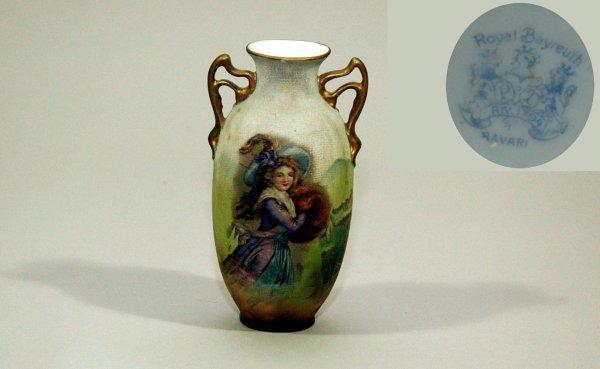 10: Victorian, Royal Bayreuth Bavaria Porcelain Vase
