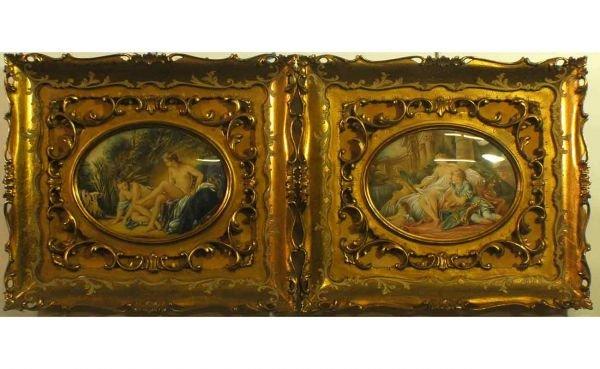 16: Pair of Gilt Carved Florentine Frames