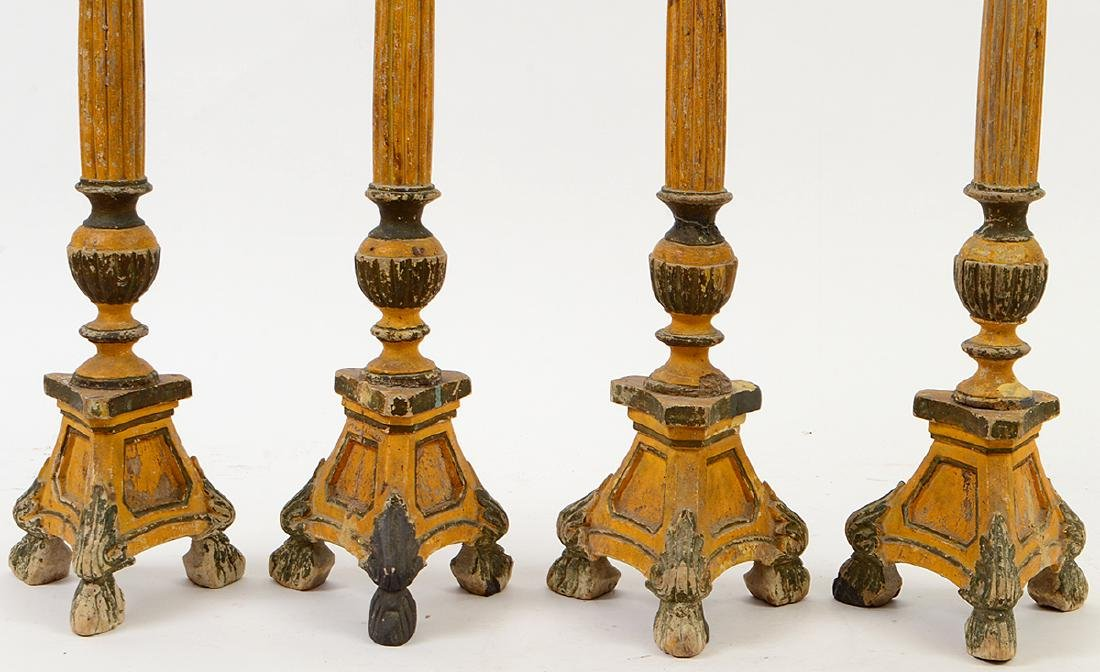FOUR ITALIAN NEO-CLASSICAL STYLE PAINTED WOOD - 2