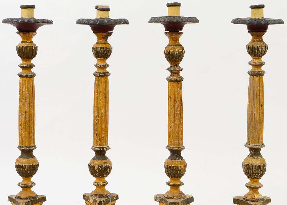 FOUR ITALIAN NEO-CLASSICAL STYLE PAINTED WOOD - 3