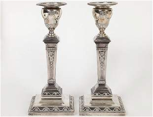 PAIR OF VICTORIAN SILVER CANDLESTICKS
