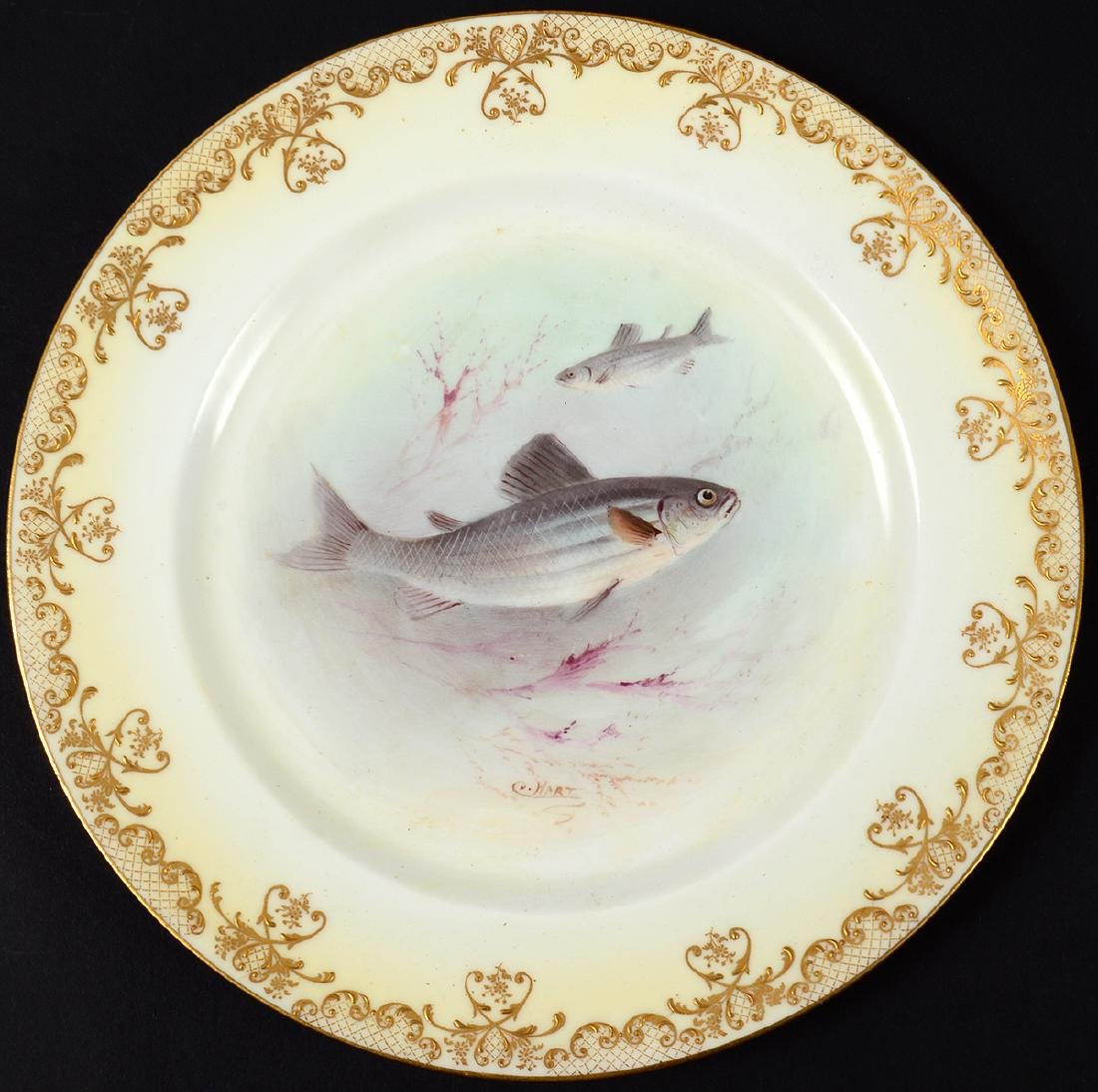 SET OF TEN ROYAL DOULTON PORCELAIN FISH PLATES - 10