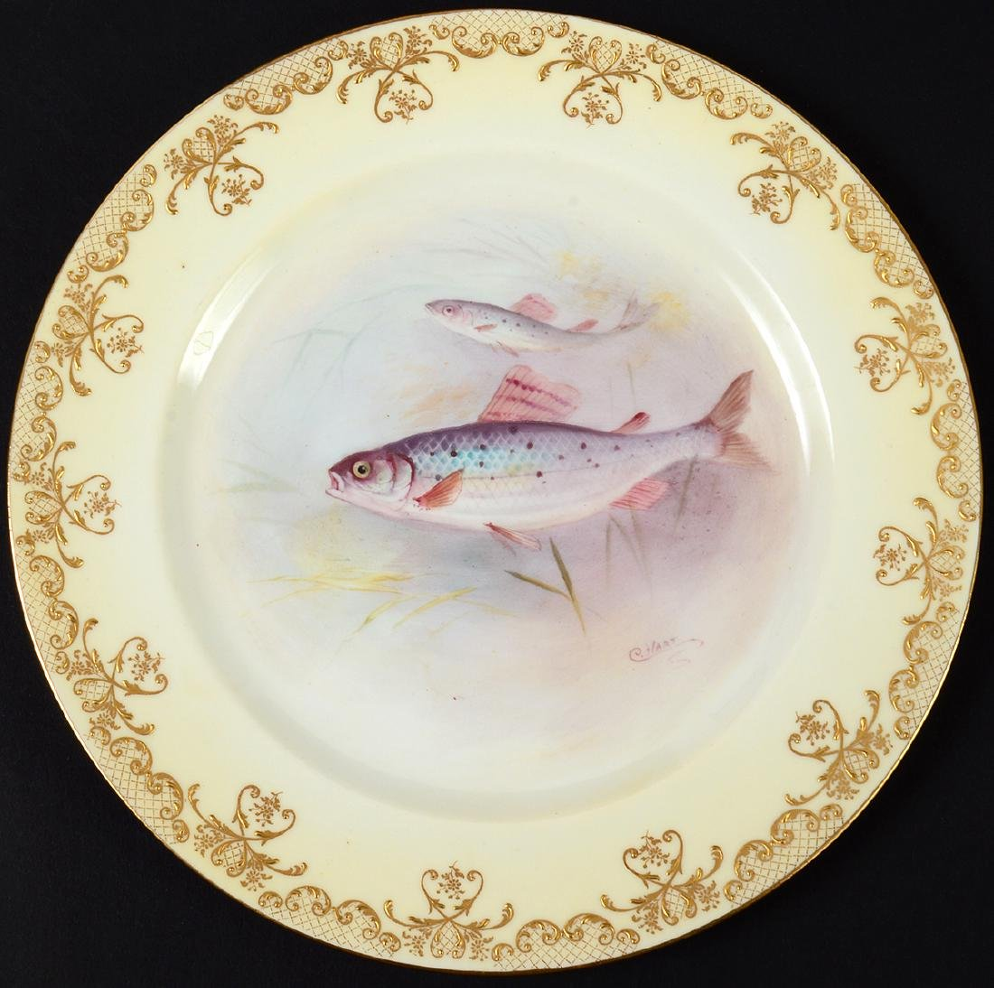 SET OF TEN ROYAL DOULTON PORCELAIN FISH PLATES - 11