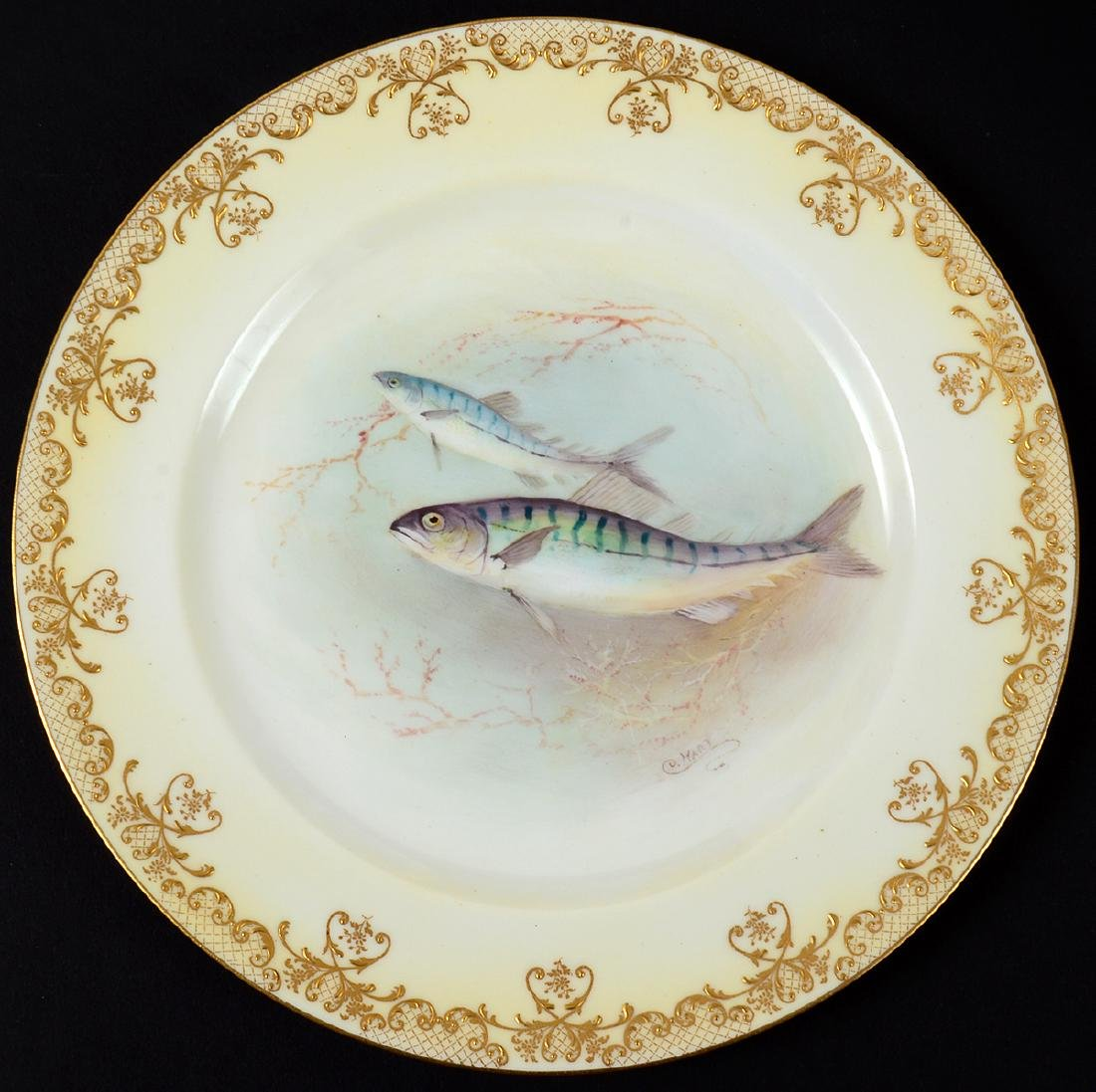 SET OF TEN ROYAL DOULTON PORCELAIN FISH PLATES - 2