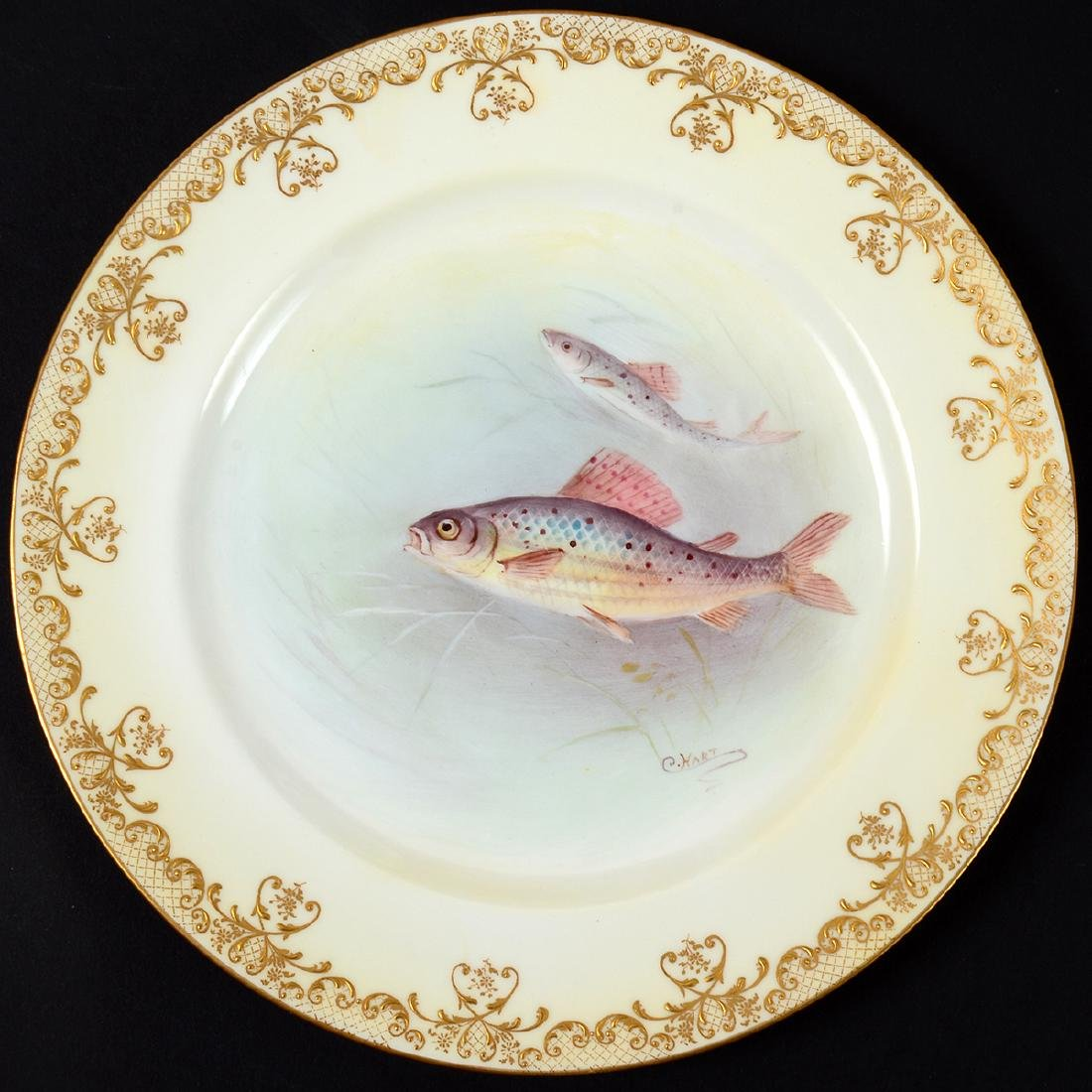 SET OF TEN ROYAL DOULTON PORCELAIN FISH PLATES - 3