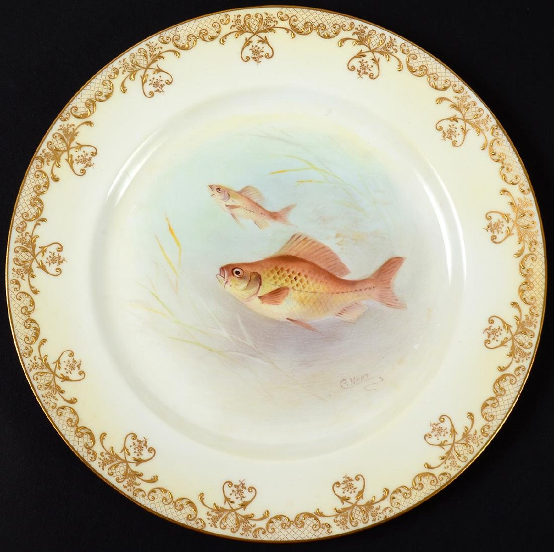 SET OF TEN ROYAL DOULTON PORCELAIN FISH PLATES - 4