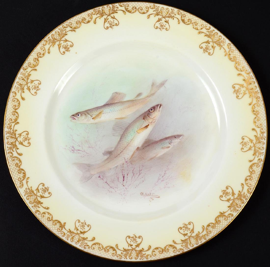 SET OF TEN ROYAL DOULTON PORCELAIN FISH PLATES - 5