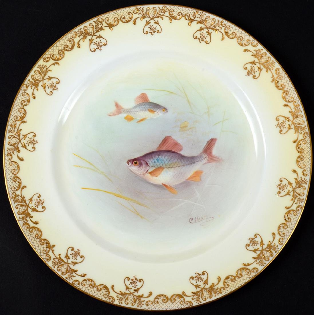 SET OF TEN ROYAL DOULTON PORCELAIN FISH PLATES - 7
